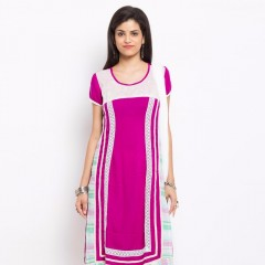 Light Pink Color Attractive Narrow Pants Style In Straight Cut Look